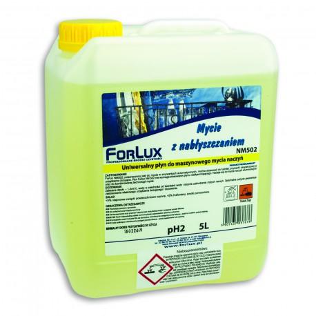 Uniwersalny preparat do maszynowego mycia naczyń bez konieczności używania nabłyszczacza - FORLUX NM 02