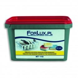Tabletki do mycia naczyń w zmywarkach bez konieczności użycia nabłyszczacza i zmiękczacza ALL IN ONE - Forlux NT 10