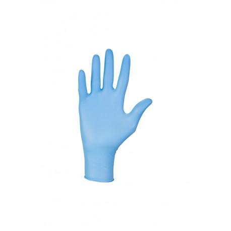 Bezpudrowe diagnostyczne rękawice nitrylowe w kolorze niebieskim - 100 szt.