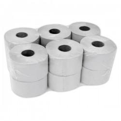 Papier toaletowy Jumbo 1-warstwowy, szary, makulatura - 12 rolek
